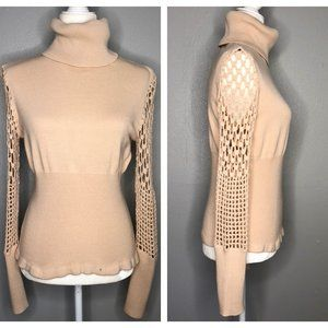 Together Crochet Turtleneck Ribbed Sweater